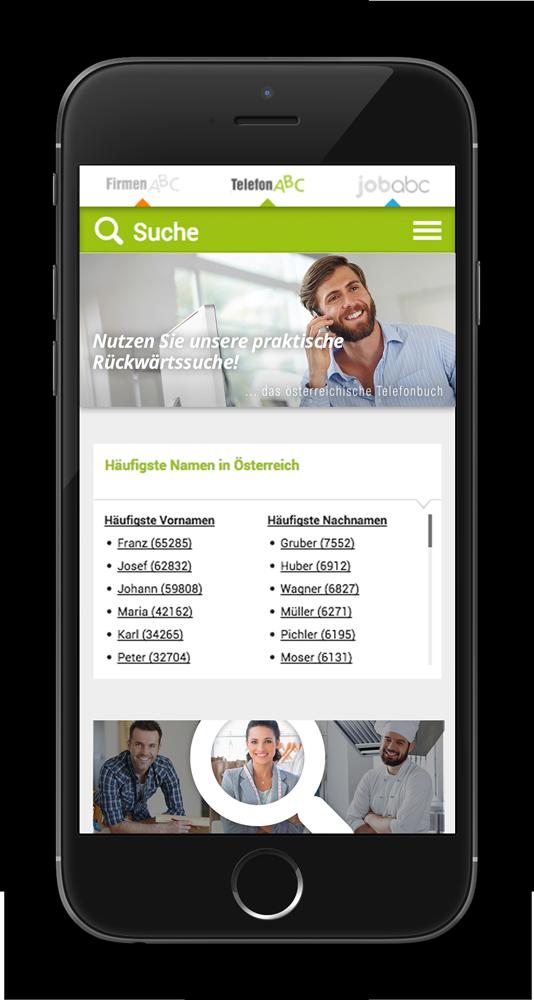 DAS österreichische Telefonbuch als App für iOS und Android